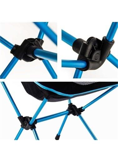 Funky Chairs Funky Chairs Ultralight 900 gr Alüminyum Katlanır Kamp Sandalyesi - Mavi Mavi
